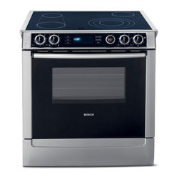 "Bosch 30"" Electric Slide-in Range With Convection, Stainless Steel 