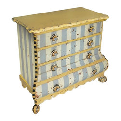 Sterling Lighting - Pinwheel Accent Chest - Four drawers. Made from composite wood. 42 in. W x 19 in. D x 40 in. H