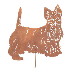 Rustica Ornamentals - Scottish Terrier Garden Stake or Wall Hanging - This handcrafted Scottish Terrier Garden Stake or Wall Hanging is fun for everyone. It will look amazing with any home or garden decor by adding that extra charm.