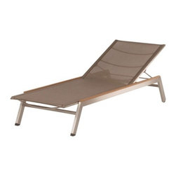 "Barlow Tyrie - Equinox Textaline Chaise Lounge - The Equinox stacking sun lounger's design details include small hidden wheels inside the leg frame and narrow strips of teakwood along the top of the side frame. This particular item received the Design Excellence Award for the tubular materials furniture category at the International Casual Furniture Show in Chicago of September 2004. The Equinox slings have a more open weave and are made of Textaline; a durable and tough material that is woven from polyester yarn coated with PVC. Built to withstand years of outdoor use. Features: -Equinox collection. -Constructed of ""316"" marine-grade stainless steel frame. -Suitable for commercial or residential use. -Overall dimensions: 12.29"" H x 26.72"" W x 75.93"" D. About Barlow Tyrie We invite you to browse through our fine teak furniture and hope that it will give you inspiration when planning your outdoor room. As you spend more of your leisure time in the garden, both relaxing and entertaining, it is increasingly important that your outdoor environment is comfortable, functional and visually pleasing. We combine many years of manufacturing experience with the best materials and design excellence to achieve these criteria perfectly. We are very proud of the quality of our furniture and we hope that you will choose to become one of our valued customers. Barlow Tyrie Product Warranty Barlow Tyrie warrants their teakwood outdoor furnishings are fit for their intended reasonable use for a period of five years for residential use (three years for commercial use) from purchase invoice date and when supplied are free from defective materials and workmanship. This warranty does not apply to cracks which may appear when exposed to the elements and are considered entirely natural for teakwood outdoor furniture, damage resulting from tampering, misuse, accident, alteration, vandalism, abuse or normal wear. Products believed to be faulty workmanship of materials should be reported to Barlow Tyrie as soon as possible. If applicable, photographic proof of claim may be requested for examination or determination. Any faults found on inspection and covered by this warranty will be rectified by the replacement of the faulty part. If deemed necessary for repair, Barlow Tyrie will arrange for the product in question to be returned via their choice of transit and returned free of charge to the customer. No returns are accepted without authorization and will be refused. Barlow Tyrie's liability in respect to goods supplied by it and not of its manufacture shall be limited to any guarantee or warranty given by the manufacturer of such goods. Barlow Tyrie shall not be under any further liability however arising and all conditions and warranties expressed or implied by or under statute, custom or trade usage are hereby expressly excluded to the extent permitted by law."