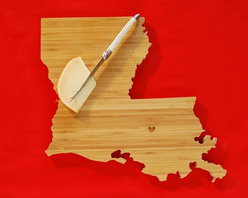 Louisiana State Cutting Board by A.Heirloom - I love this gift idea so much that I actually gifted a state board to friends as an engagement gift. A custom heart can be engraved in the city of your choice, and you can even add a second heart if two cities are special. This is such a cool way to set out cheese at the next cocktail party!
