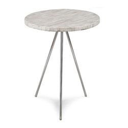 Regina Andrew Bone Veneer Tripod Side Table - I love this little table. The modern design and veneer top are perfect together.