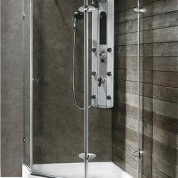 Vigo - VIGO VG6061CHCL40W Neo-Angle Shower - Both dramatic and space-saving, the VIGO frameless neo-angle shower enclosure creates a beautiful focal point for your bathroom.