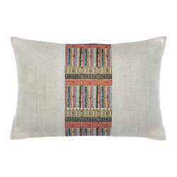 Steve Madden - Steve Madden Lani Beaded Breakfast Pillow Multicolor - 204483 - Shop for Pillows from Hayneedle.com! Delight is in the details like the beautiful beaded and embroidered details on the Steve Madden Lani Beaded Breakfast Pillow. You ll love how this colorful design pops against the cotton cover and it pairs perfectly with other pieces in Steve Madden s Lani collection (sold separately). Pillow has polyester insert and cover is machine washable.About Steve Madden (Revman International)Steve Madden made his name as a leading designer of fashionable footwear and accessories; he's even considered the fashion footwear mogul of the 21st century. Now he brings his instinctive ability to sense the next hot fashion trend to a new line of bedding and bath products including sheets comforters beach and bath towels and other home products. This home collection launched in the fall of 2009 is already a big hit due largely to Madden's fashion-forward designs and dedication to quality.