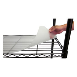 Trinity - Trinity 48x18-inch Shelf Liners (Set of 4) - Help keep small items securely in their place with these handy shelf liners for your Trinity wire shelves. This set of four frosted clear liners are constructed of polypropylene for durability with custom slit corners to fit around poles.