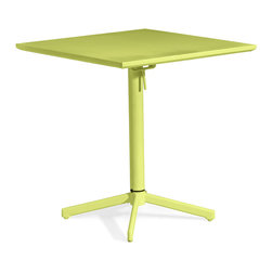 Zuo Modern Contemporary, Inc. - Big Wave Square Folding Table Lime - Adds a bold dash of color to any outdoor space. The Big Wave Folding Table series is made of epoxy coated steel that's durable enough for any climate. Easily folds up for storage when not in use. Comes in white, purple, lime or aqua. Sold separately.