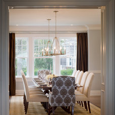 Traditional Dining Room by Point One Architects