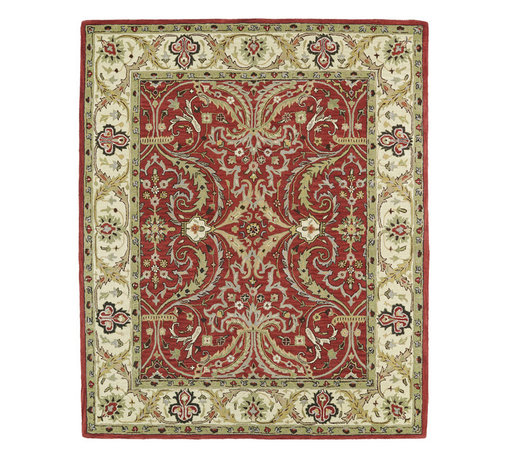 Kaleen - Kaleen Taj Collection TAJ11-25 8'0 x 11' Red - The Taj collection is inspired with classic style and traditional patterns that mix beautifully with today's formal, casual, and transitional d_cor to complete a forever timeless masterpiece. Hand-tufted in India of 100% wool.