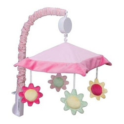 Trend Lab Baby Splash Pink Mobile - The Trend Lab Baby Splash Pink Mobile is an ideal finishing touch to your baby's nursery. And it helps with naps and at night when it's time for your little one to go to sleep. Featuring four stuffed flowers that are suspended from decorative white ribbon, this wonderful mobile slowly rotates while playing Brahms' Lullaby, which not only helps baby go to sleep, it also encourages eye tracking and sound perception skills.About Trend LabFormed in 2001 in Minnesota, Trend Lab is a privately held company proudly owned by women. Rapid growth in the past five years has put Trend Lab products on the shelves of major retailers, and the company continues to develop thoroughly tested, high-quality baby and children's bedding, decor, and other items. Trend Lab continues to inspire and provide its customers with stylish products for little ones. From bedding to cribs and everything in between, Trend Lab is the right choice for your children.