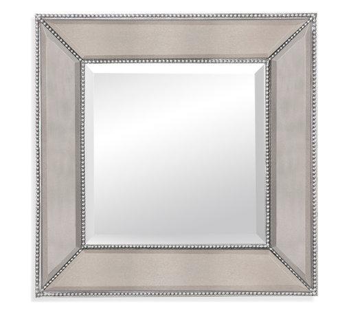 Bassett Mirror - Bassett Mirror Beaded Wall Mirror - Beaded Wall Mirror
