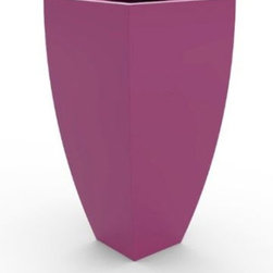 "Decorpro - Decorpro D12000-5R-24 Corby Planter - Bubble Gum - Decorpro D12000-5R-24 Corby Planter - Bubble Gum. The CORBY Planter evolved from a variation on the standard square pots. Although designed as a large outdoor planter, these tall elegant planters also look great indoors. With clean curved lines these modern planters add an impressive statement as commercial planters or in private residences. Made from a non-toxic food grade polymer based fiberglass resin, these contemporary planters will never rot, mildew, split, cup or warp. This material offers an unparalleled combination of uniformity, durability and beauty. These modern outdoor planters are available in our standard colours or you have the option of selecting a custom colour. Decorpro planters meet all your performance and durability requirements. Whether exposed to salt water the rough and tumble of everyday wear and tear of home or commercial use, our gel coats maintain a beautiful finish no matter how tough the conditions get. Specifications: Product Dimensions (IN): L 24.5"" X W 24.5"" X H 48"". Product Weight (LB): 37. Product Dimensions (CM): L 62.23 X W 62.23 X H 121.92. Product Weight (KG): 16.78. Colour: Bubble Gum."