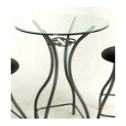 Grace Collection - Glass Round Bistro/ Bar Table Top (24 in.) - Choose Table Top Size: 24 in.Select the right top for your bistro or bar table.  These 3/8-inch glass tops are featured in 24-inch and 30-inch rounds.  See-through styling opens up any area and is an excellent choice for nooks and smaller spaces.  This is a great addition for functional or visual reasons.  This aseptically pleasing and visually impressive  piece will be a hit in your home. * 3/8 in. thick Round Glass Table Top. Select the right top for your bistro or bar table. See-through styling opens up any area and is an excellent choice for nooks and smaller spaces.