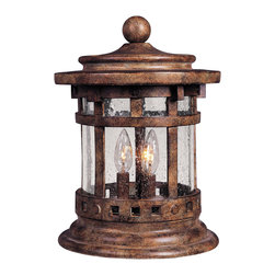 Santa Barbara VX-Outdoor Deck Lantern - Maxim Lighting's Santa Barbara VX Collection is made with Vivex, a material twice the strength of resin, is non-corrosive, UV resistant and backed with a 3-Year Limited Warranty. Santa Barbara VX features our Sienna finish and Seedy glass.