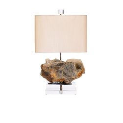 Table Lamps by Alchemy Collection - We create table lamps in limited editions with only the best natural specimens, custom shades, and handcrafted metal mount work and details. Please inquire about available inventory or pieces in production.