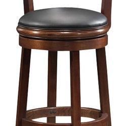 "Boraam Palmetto 29"" Swivel Bar Stool in Walnut"