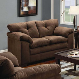 Simmons Upholstery - Dover Microfiber Loveseat - 6565L - Dover collection
