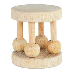 Green Sprouts by iPlay Natural Wood Cage Rattle - Rubber wood is a natural germ-repelling surface, and this rattle will entertain both baby and design-minded adults.