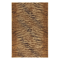 Karastan - Karastan Carmel 74700-13120 Palmero Chestnut Rug - They're all over the runways, why not in your living room? Whether its tiger, leopard or jungle print, you'll go wild for these chic area rugs.