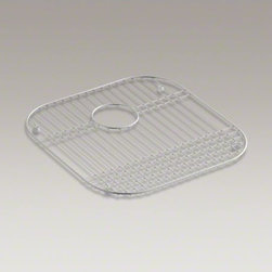 """KOHLER - KOHLER Stainless steel sink rack, 16-1/2"""" x 16-9/16"""", for Undertone(R) kitchen s - Preserve the fine finish of your stainless-steel sink with a sink rack. Perfectly sized to fit select Ravinia(R) and Undertone(R) sinks, this rack helps safeguard your fragile dishes and protects the sink's surface."""