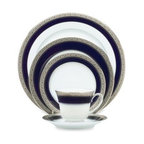 Noritake - Noritake Crestwood Cobalt Platinum 5-Piece Place Setting - The richness of cobalt against an etched platinum border provides this white fine china with an opulent look you'll certainly cherish. This collection features a handsome platinum rim which completes the pattern perfectly.