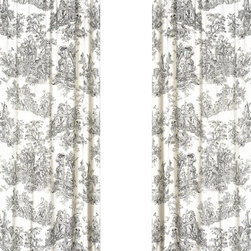 """Sweet Jojo Designs - Black Toile Window Panels (Set of 2) - Create a stylish look for your child's room with the Black Toile Window Panels (Set of 2).  This set features 2 Window Panels that are 42"""" x 84"""" each."""