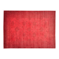 1800-Get-A-Rug - Red Overdyed Oushak 100% Wool Hand Knotted Oriental Rug Sh19493 - Red Overdyed Oushak 100% Wool Hand Knotted Oriental Rug Sh19493