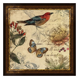 Framed Fine Art Print Bird - Nature's Rhapsody  II by Aimee Wilson - Framed Fine Art Print Nature's Rhapsody II by Aimee Wilson