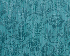 Turquoise Two Toned Floral Metallic Sheen Upholstery Fabric By The Yard - This multipurpose fabric is great for residential upholstery, bedding and drapery. This material is woven for enhanced elegance. The sheen of this material varies depending on the light for a unique appearance.