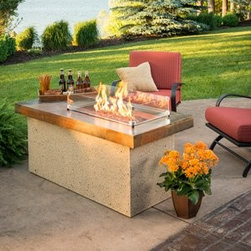 Artisan Fire Pit Table - ART-1224-BRN - The Artisan Fire Pit Table is a work of art made just for your backyard, patio, or outdoor entertaining area. Able to generate a beautiful, strong flame, both you and your guests will adore this backyard feature. -Mantels Direct