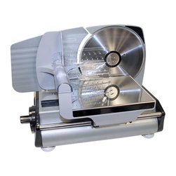 Buffalo Tools - Sportsman Series Electric Meat Slicer [Set of 2] - Electric Meat Slicer by Sportsman Series Slice ham or roast beef for sandwiches with the Sportsman Series Electric Meat Slicer. It is great for church groups, family reunions, or large families who wish to buy in bulk and slice meat themselves to save money. Get the most out of the leftover turkey from the holidays too.  The removable sliding table makes the Electric Meat Slicer easy to use and clean. The 7.5 inch stainless steel blade can cut slices up to 5/8 inch think. The non -slip suction cup feet keep it from sliding around on the counter while in use.  Makes great sandwiches from leftover turkey, ham, and roasts Also slices fruit and vegetables 7-1/2 inch stainless steel blade Maximum slicing thickness up to 5/8 inch Non -slip suction cup feet Easy to clean sliding table 120v / 60hz / 150 watt