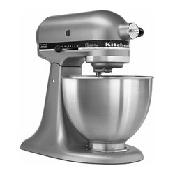 KitchenAid - KitchenAid Silver KSM75SL Classic Plus Tilt-head 4.5-quart Stand Mixer - Ten speeds and a distinct mixing action make this Classic Plus Stand Mixer from KitchenAid a welcome addition to any kitchen. This mixer offers a tilt-head design and includes a Power Hub that accommodates all KitchenAid stand mixer attachments.