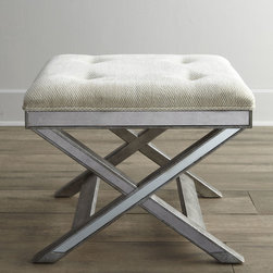 Mirrored X-Bench - The ever-popular X-bench takes on new style with a mirrored apron and base.