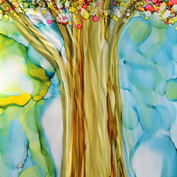 Hand Painted Original Direct from Artist - Jon Allen - Original Abstract Landscape Painting - Tree of Life by Jon Allen - Original Abstract Landscape Painting - Tree of Life by Jon Allen