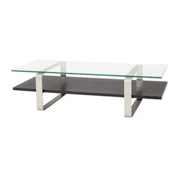 BDI - BDI Stream Long Coffee Table - Modern and minimalist, the Stream Long Coffee Table by BDI has a sculptural aesthetic. Three materials are combined to create the dual surface table. Perfect for the modern home.