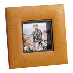 Zodax - Zodax Equestrian Faux Leather Photo Frame-Square - Zodax - Photo Frames - BAR181 - Equestrian Faux Leather Square Photo Frame
