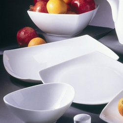 10 Strawberry Street - 10 Strawberry Street Aurora Square Rectangular Platter - Set of 2 - AUR-22 - Shop for Plates and Dishes from Hayneedle.com! As perfect for formal occasions as they are for casual dining the 10 Strawberry Street Aurora Square Rectangular Platter - Set of 2 has a unique rectangular shape with upturned corners to give it an elegant look. Whether you're serving appetizers or presenting your main course these platters will showcase your food in contemporary style.About 10 Strawberry Street10 Strawberry Street creates and imports the most unique and functional glassware you'll find. Their imported products come from Sri Lanka Germany and Belgium and they are continuously developing new factories and suppliers to bring you the most diverse product lines available. Their line of barware is durable and dishwasher-safe and comes in a variety of sizes and colors to suit any home bar's decor.
