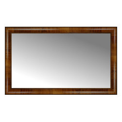 "Posters 2 Prints, LLC - 36"" x 22"" Belmont Light Brown Custom Framed Mirror - 36"" x 22"" Custom Framed Mirror made by Posters 2 Prints. Standard glass with unrivaled selection of crafted mirror frames.  Protected with category II safety backing to keep glass fragments together should the mirror be accidentally broken.  Safe arrival guaranteed.  Made in the United States of America"