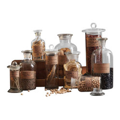 Botany Apothecary Jar (2 Sets, Pack of 9 per Set)