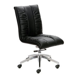 Matrix Comphy Adjustable Height Swivel Office Chair - All you have to do is take a quick glance at the Matrix Comphy Adjustable Height Swivel Office Chair and you can see that it deserves to have the word comfy in its name. The soft leatherette tufted seat, rolling metal base, rocking motion, and the gas lift for adjustable height means this modern office chair was built for comfort.About Matrix Imports:Located in the southwest region of Florida, Matrix Imports offers reliable and innovative modern furniture. The business-to-business company carries an impressive selection of dining and bar furniture, home office, as well as occasional and accessories. Matrix dictates the new trends by constantly innovating with sophisticated designs made with a high-quality standard that gives consumers more for their money.
