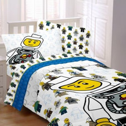 Franco Manufacturing Company, Inc. - LEGO Twin/Full Comforter - Your child will dream of exciting adventures through outer space and sailing the high seas with the LEGO Bedding Collection. The ultra-soft collection features cool LEGO characters for fun and imaginative look in their bedroom.