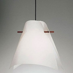 """Domus - Domus Plan B pendant light - The Plan B pendant light fromDomus has been designed by Iris Kremer. This suspension mounted luminaire is great for incandescent or fluorescent lighting. The Plan B is composed of a shade in Lunopal. Lunopal is a transparent material that has the appearance of Japanese paper and consists of compressed polycarbonate fibers. This fixture is also constructed from premium wood which is available in the following finishes: beech wood or maron oiled wood. Shade is washable. DOMUS lamps are developed in a teamwork approach. Designers, wood experts, design engineers, and lighting designers create products to serve their users. All are working to create high quality, long-lived products from the very best of raw materials. Each individual lamp is hand-made and subsequently subjected to stringent quality controls.  Product Description  The Plan B pendant light fromDomus has been designed by Iris Kremer. This suspension mounted luminaire is great for incandescent or fluorescent lighting. The Plan B is composed of a shade in Lunopal. Lunopal is a transparent material that has the appearance of Japanese paper and consists of compressed polycarbonate fibers. This fixture is also constructed from premium wood which is available in the following finishes: beech wood or maron oiled wood. Shade is washable. DOMUS lamps are developed in a teamwork approach. Designers, wood experts, design engineers, and lighting designers create products to serve their users. All are working to create high quality, long-lived products from the very best of raw materials. Each individual lamp is hand-made and subsequently subjected to stringent quality controls. Details:                         Manufacturer:             Domus                            Designer:                         Iris Kremer                                         Made in:            Germany                            Dimensions:                         Shade Height: 13.8"""" (35 cm) Diameter: 15"""