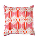 "Rhadi Living - Medallion Pillow Eurosham 26x26"" Pink/Orange - Give your bedroom an exotic touch by covering your pillow with this handmade cotton sham.  The cheerful hand printed design is inspired by ikat designs and block prints, creating a well traveled feel in your room. Machine wash cold separately, delicate cycle, tumble dry low. Do not bleach. Iron at medium setting if necessary. Eurosham includes poly insert."