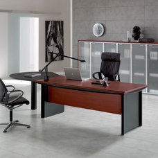 Modern Desks Kim Executive Shaped Desk By DV Office