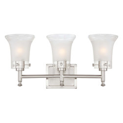 Nuvo Lighting - Nuvo Lighting 60-4523 Patrone 3-Light Vanity Fixture with Clear and Frosted Glas - Nuvo Lighting 60-4523 Patrone 3-Light Vanity Fixture with Clear and Frosted Glass