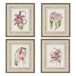 Paragon Art - Paragon Lilac Orchid ,Set of 4 - Artwork - Lilac Orchid ,Set of 4         ,  Paragon French Tape Matting Protected Under Glass , Paragon has some of the finest designers in the home accessory industry. From industry veterans with an intimate knowledge of design, to new talent with an eye for the cutting edge, Paragon is poised to elevate wall decor to a new level of style.