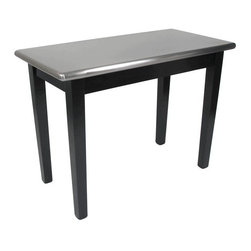 John Boos - Rectangular Table in Stainless Black (48 in. - Choose Size: 48 in. x 24 in.Stainless steel bullnose top with black base. 48 in. W x 24 in. D x 36 in. H