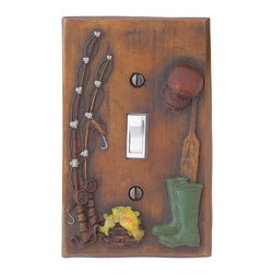 Renovators Supply - Switchplates Ant Resin Fishing Single Toggle/Dimmer Switch Plate - The perfect switchplate for the angler in your life.