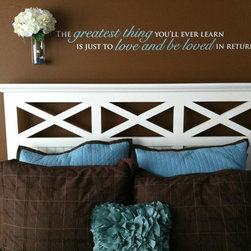 Uppercase Living - Master Bedrooms - Affordable, high quality custom vinyl lettering and graphics.  58 colors and 35 font styles available. Designs and photos provided by Faith Schulze, Uppercase Living Independent Demonstrator