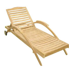 Anderson Teak - Innova Sun Lounger - Our most artistic piece of sun lounger! Perfect for poolside reading in the sun. This Sun Lounger adjusts to four different positions, including completely flat. With its solid teak wheels, it can be easily moved in or out of the sun. Cushion is optional and is being made by order.