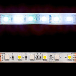 EnvironmentalLights - WP RGBDW 5050 ColorPlus LED Strip Light 60/m 12mm wide Foot - Sold by the 5 meter reel, foot and sample kit.